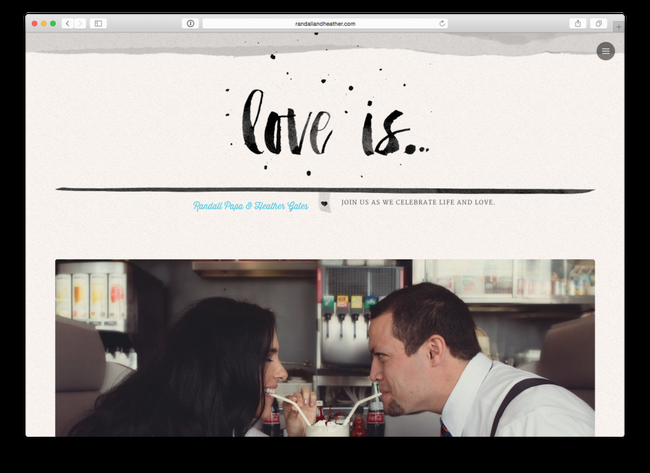 wedding website examples