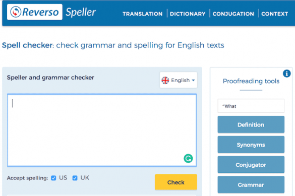 Spellcheck and Proofing Tools