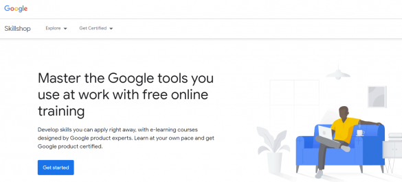 "A screenshot of Google Skillshop | From BloggingPro.com's ""Where Can I Learn How To Blog (Like a Pro) For Free?"""