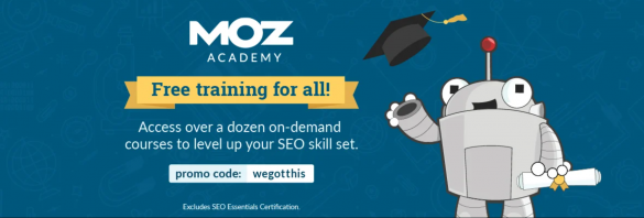 "A screenshot of Moz's Free SEO Course | From BloggingPro.com's ""Where Can I Learn How To Blog (Like a Pro) For Free?"""