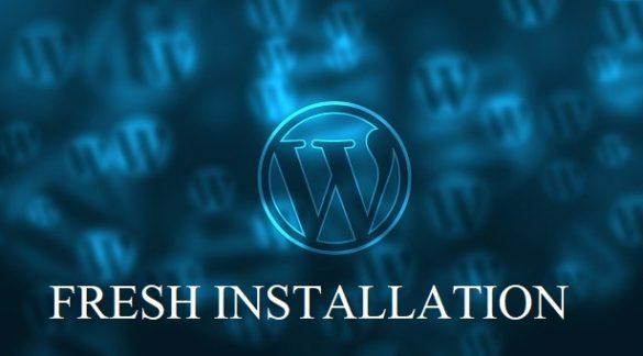 fresh wordpress installation tips