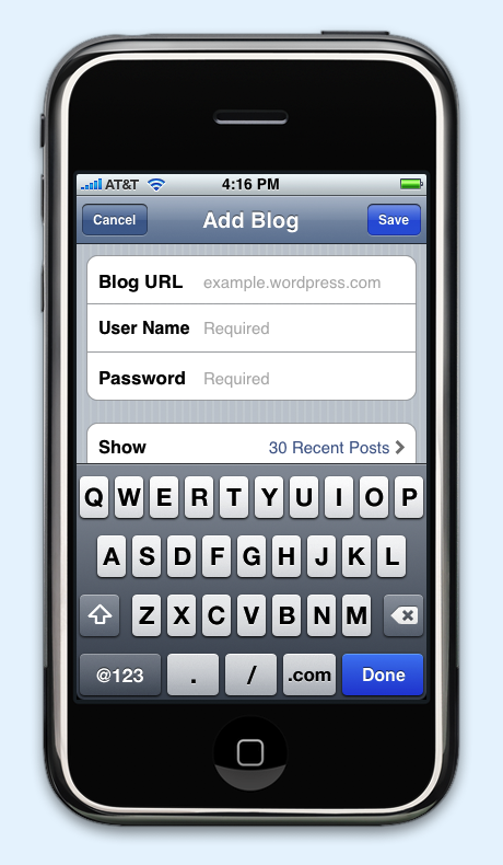 iPhone for WordPress