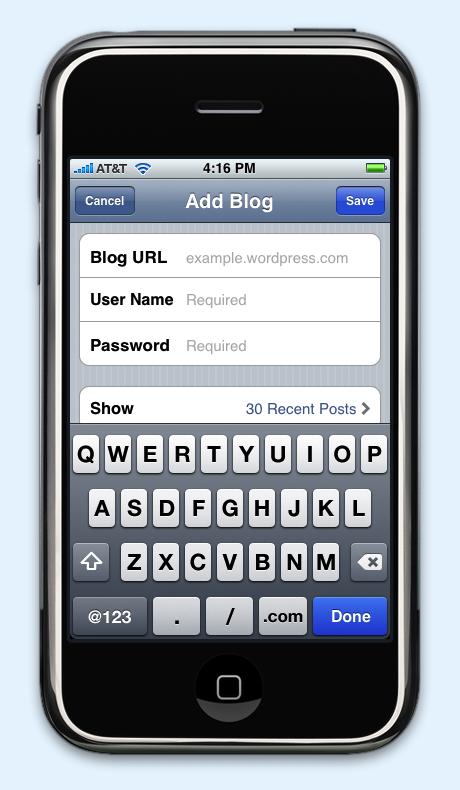 WordPress Releases App for iPhone
