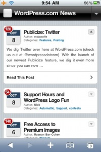 WordPress.com Blogs Now Mobile Ready