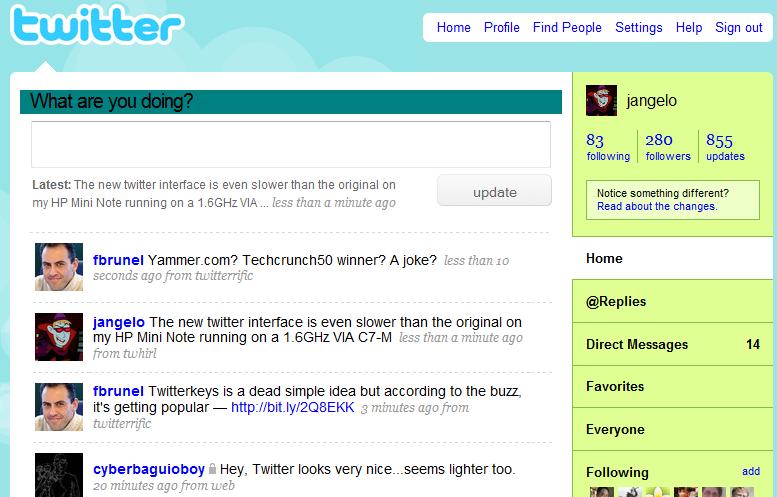 Twitter Updates Design