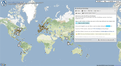 WPWorldMap.net: Mapping Out WordPress Users From All Over the Globe